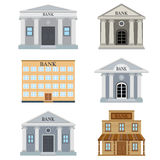 Set of bank buildings. Royalty Free Stock Photo
