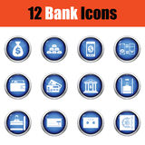 Set of bank icons. Stock Photography