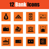 Set of bank icons Royalty Free Stock Images