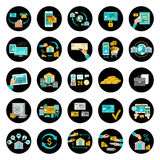 Set banking icons. Stock Photos