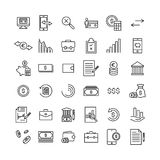 Set of banking thin line icons. High quality pictograms of money. Modern outline style icons collection Stock Images