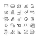 Set of banking thin line icons. High quality pictograms of money. Modern outline style icons collection Royalty Free Stock Image