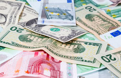 Set of banknote Royalty Free Stock Photos