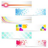 Set of Banner Royalty Free Stock Images