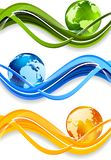 Set of banner Stock Image