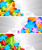 Set of banner with 3d star Stock Image