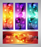 Set banner abstract background with lines. Vector Stock Photo