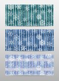 Set banner with snowflakes Royalty Free Stock Photography