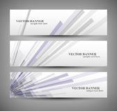 Set banner abstract illustration Stock Image