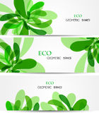 Set banner abstract illustration, colorful digital Royalty Free Stock Photography