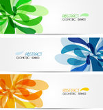 Set banner abstract illustration, colorful digital Stock Images