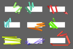 A set of banner arrows. Set of different multi-colored banner arrows Stock Illustration