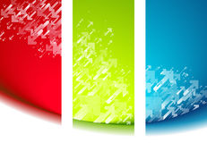 Set of banner backgrounds Royalty Free Stock Image