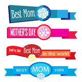 Set banner and elements mother day vector Royalty Free Stock Photos