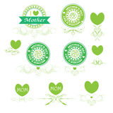 Set banner and elements mother day vector Stock Photos