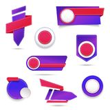 Set of banner elements, vector offer tag collection, discount label design, sale web coupons. Promotion badge icons, retail sign c. Ollection, best price Vector Illustration