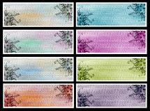 Set banner flowers Royalty Free Stock Images