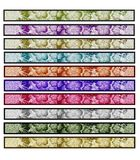 Set banner flowers Stock Photos
