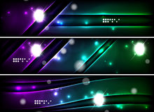 Set of banner, header backgrounds with place for Royalty Free Stock Photo