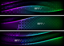 Set of banner, header backgrounds with place for Royalty Free Stock Photography