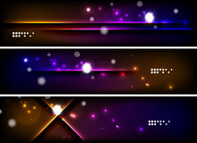 Set of banner, header backgrounds with place for Stock Image