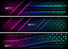 Set of banner, header backgrounds with place for Stock Photography