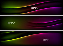 Set of banner, header backgrounds with place for Stock Photo
