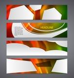 Set banner headline horizontal layout hot background02. Set Design elements business presentation template. Vector illustration horizontal web banners background Royalty Free Stock Photos