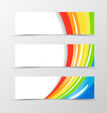 Set of banner rainbow design Royalty Free Stock Photo