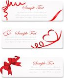 Set of banner with red gift bows with ribbons Vector Stock Images