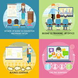 Set of Banner Seminar Training Business Royalty Free Stock Images
