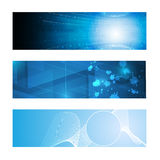 Set of 3 banner technology innovation concept design01 Royalty Free Stock Images