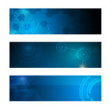Set of 3 banner technology innovation concept design03 Stock Photo