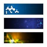 Set of 3 banner technology innovation concept design Stock Image