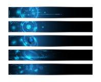 Set of 5 banner technology innovation future futuristic design concept. Eps 10 Stock Photos