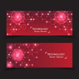 Set of 2 banner technology. Royalty Free Stock Images