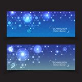 Set of 2 banner technology. Stock Photography