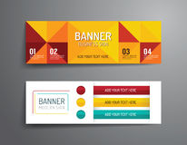 Set of banner template vector design.graphic or website layout. Royalty Free Stock Images