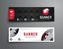 Set of banner template vector design.graphic or website layout. Stock Image
