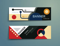 Set of banner template vector design.graphic or website layout. Stock Images