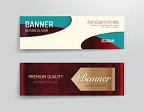 Set of banner template vector luxury design.graphic or website Royalty Free Stock Image