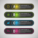 Set of banner templates. modern abstract design. Royalty Free Stock Images