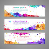 Set of banner templates. modern abstract design. Stock Images