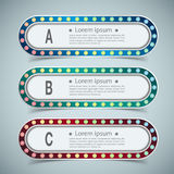 Set of banner templates. modern abstract design. Royalty Free Stock Photo