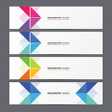 Set of banner templates. Modern design with arrows. Vector Royalty Free Stock Image