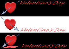 Set Banner Valentine [1] Stock Photography