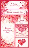 Set of banner for Valentines day Stock Images