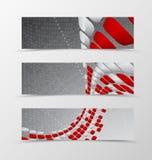 Set of banner wave design Stock Images