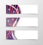 Set of banner wavy design Royalty Free Stock Photos