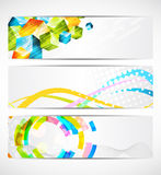 Set of banners. Set of abstract bright banners Royalty Free Stock Photography